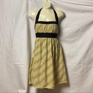 Betsey Johnson Silk Halter Mini Cocktail Dress